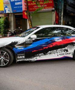 Dán tem xe oto siêu sang BMW đẹp giá rẻ