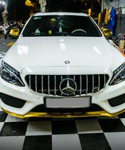 Dán điểm họa tiết Mercedes C300 màu vàng Yellow Gold CHM02E - cảng trước