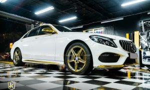 Dán điểm họa tiết Mercedes C300 màu vàng Yellow Gold CHM02E - lazang