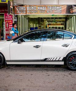 Decal đổi màu oto Maybach Mazda3 Hà Nội