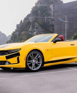 Dán đổi màu ô tô Chevrolet Camaro Vàng Bóng