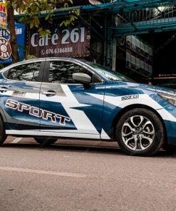 Dán Tem xe oto Mazda 2 phong cách thể thao