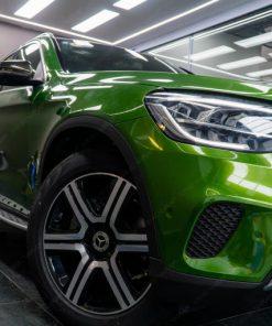 Dán decal đổi màu oto Mercedes GLC200 Xanh Green