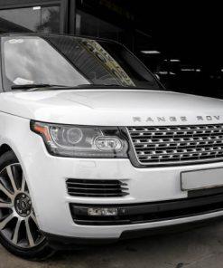 Range Rover dán decal đổi màu Trắng Bóng Tinh Khôi