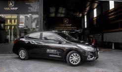 Combo dán nóc và tem sườn xe ô tô Huyndai Accent