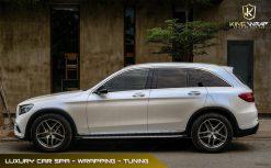 Mercedes GLC300 dán decal đổi màu oto Trắng ngọc trai