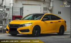Dán decal đổi màu oto Vàng Cam Bóng Honda Civic