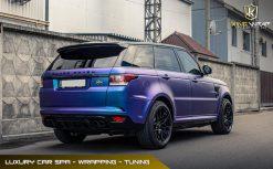 Dán decal đổi màu oto Range Rover Tím chuyển sắc