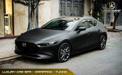 Dán decal đổi màu ô tô Mazda 3 Đen Lì siêu ấn tượng